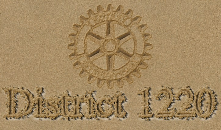 District 1220 in the sand