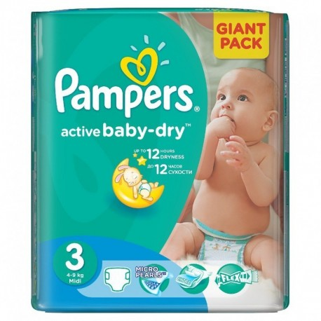82 couches pampers active baby dry taille 3 pas cher sur 123 couches