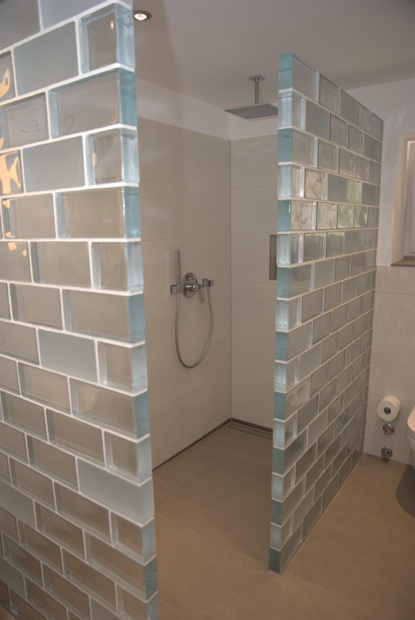 Glasbausteine Fur Dusche Duschwand Selber Bauen Wohn Design