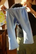 Splitpant blau