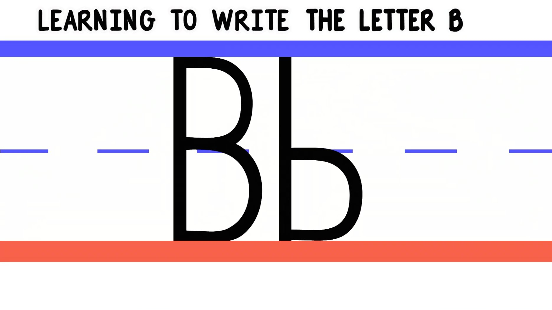 Letter B Practice Handwriting Downloads