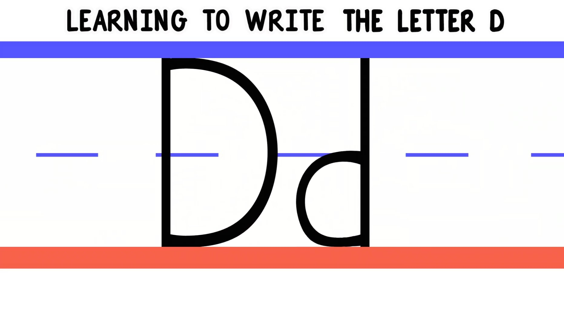 Letter D Practice Handwriting Downloads