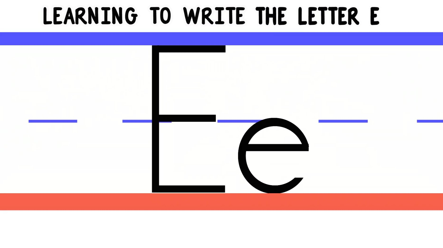 Letter E Practice Handwriting Downloads