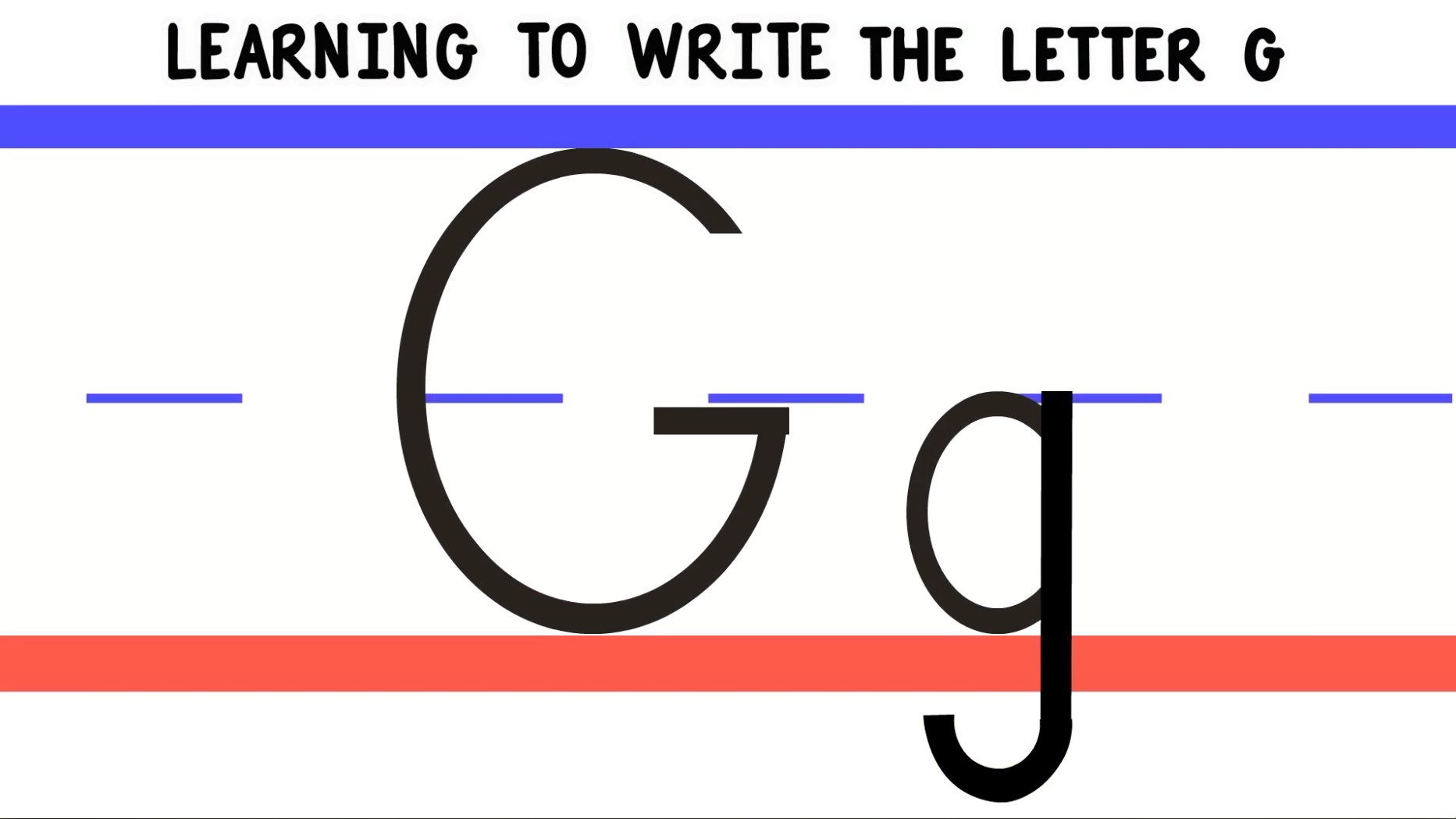 Write The Letter G