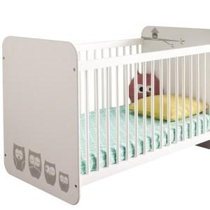 Baby ledikant Hiboux 123 cm breed - Wit