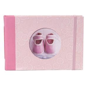 Fotoboek met elastiek als sluiting roze