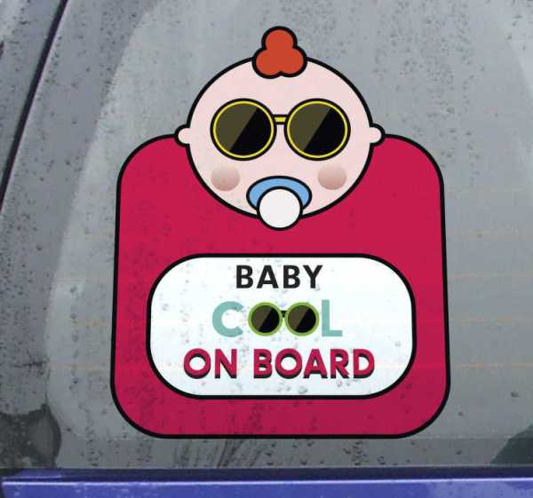 Baby aan boord sticker Baby cool
