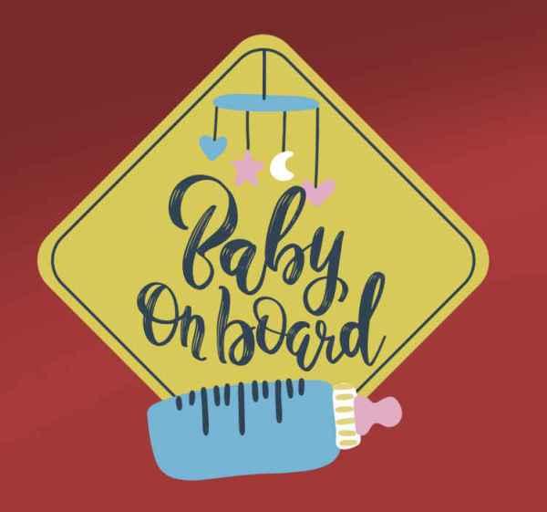 Baby aan boord sticker Fles
