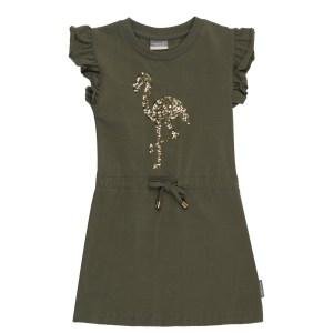 Vinrose Meisjes jurk - Olijf groen