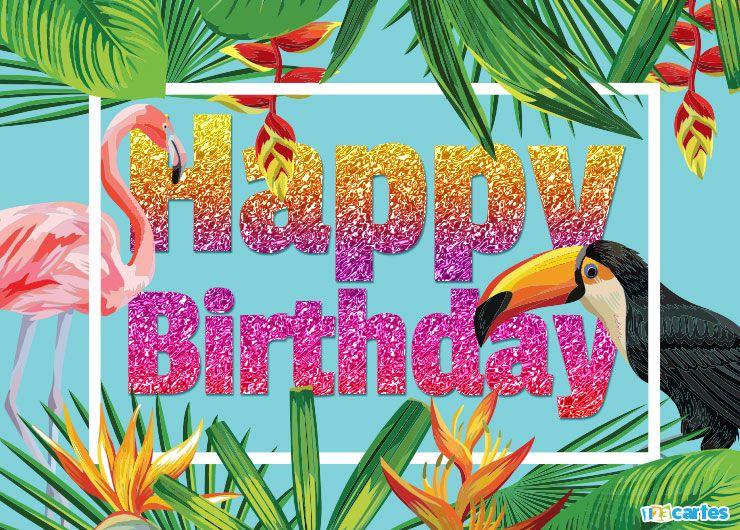 cartes joyeux anniversaire en anglais