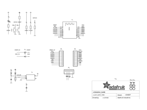 adafruit-huzzah-esp8266-basic-breakout-sch Eagle Import