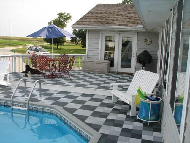 Dalle de sol pour piscine  sol piscine ou sol local piscine