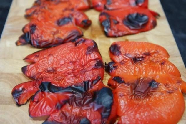 peler des poivrons