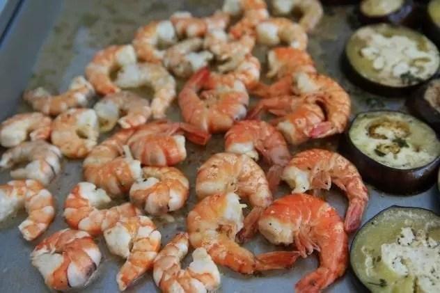 crevettes marinées à la plancha