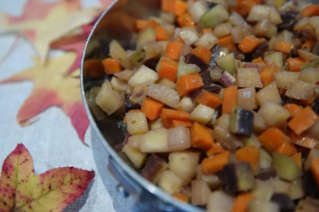 carottes multicolores au lait de coco