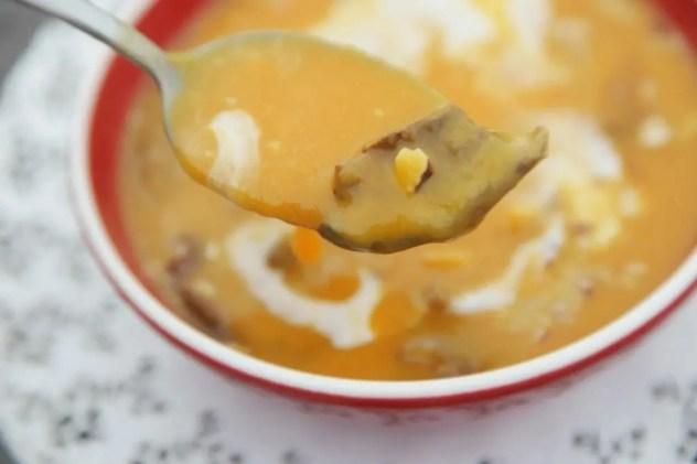 velouté de butternut aux cèpes