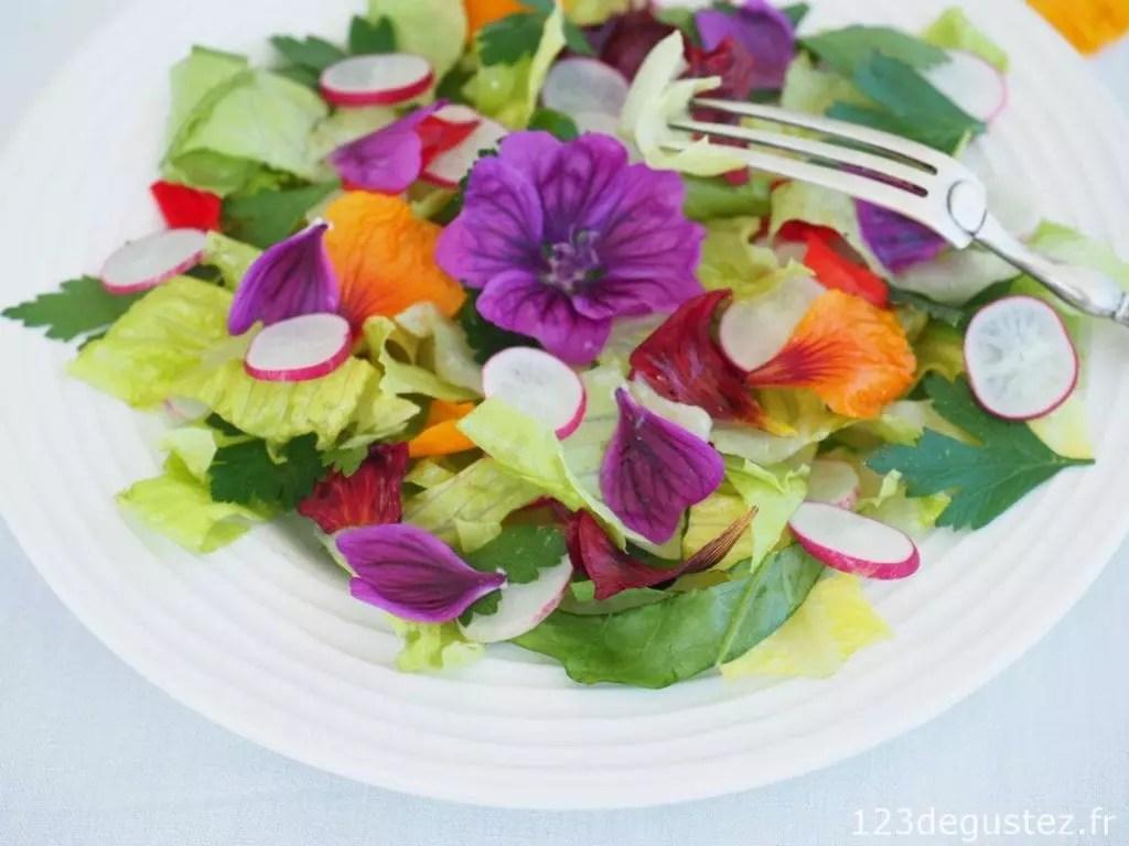 salade de fleurs comestibles 1 2 3 d 233 gustez