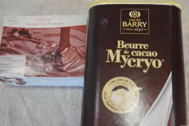 feuilles chocolat au Mycryo et aux huiles essentielles