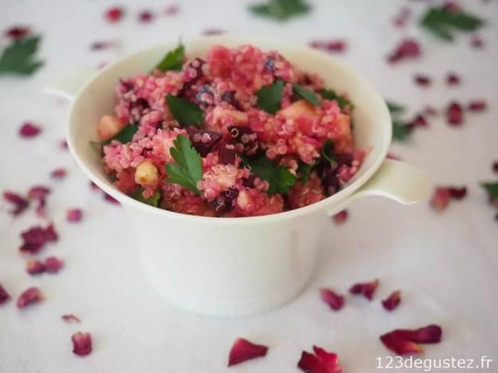 salade de quinoa à la betterave pour Octobre rose