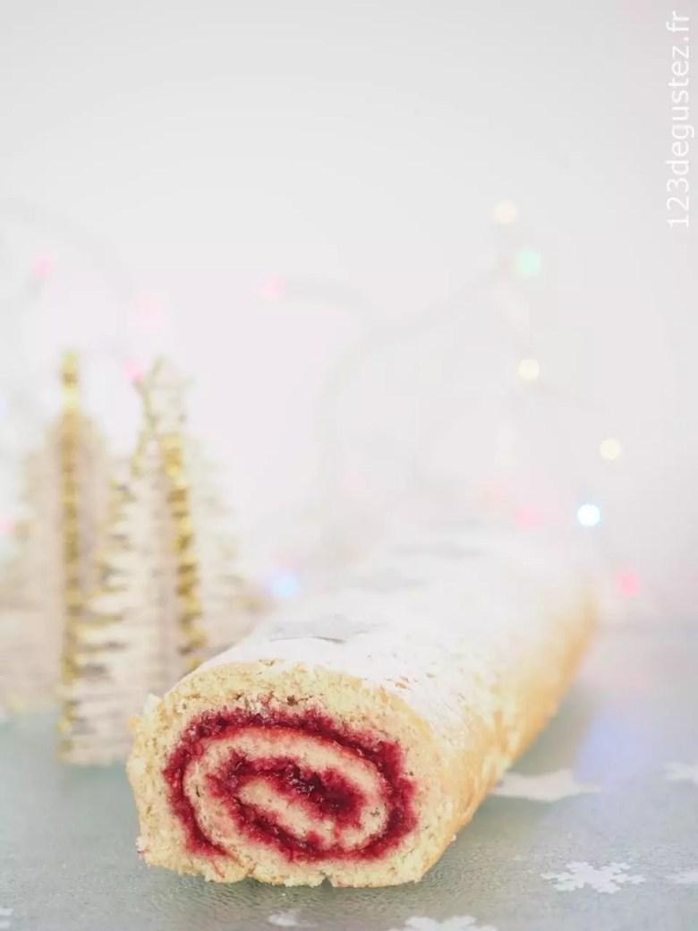 Bûche de Noel facile et légère sans gluten