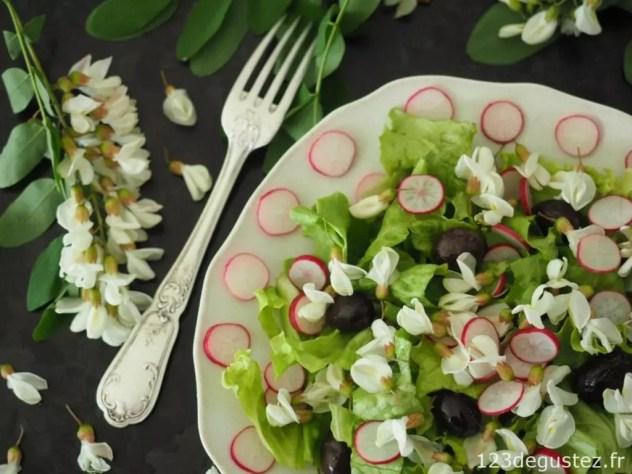 salade de fleur d'acacia