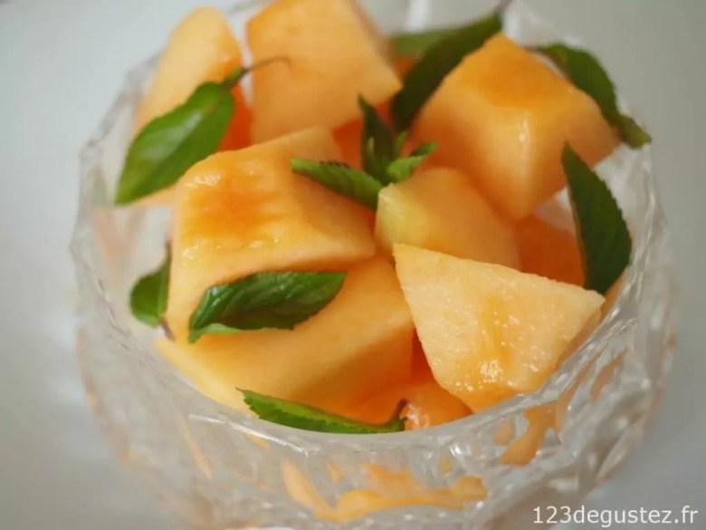 salade de melon à la menthe