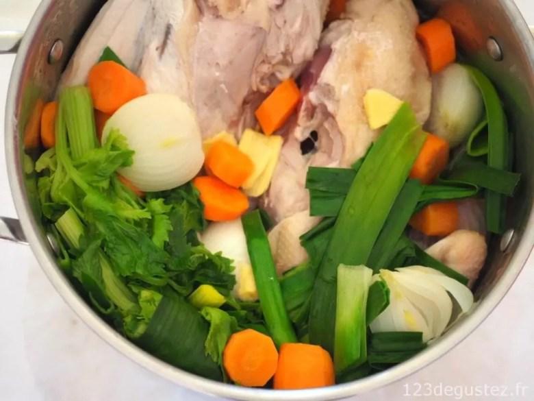 bouillon de poulet maison