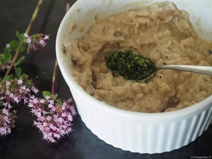 aubergine, recette à tartiner