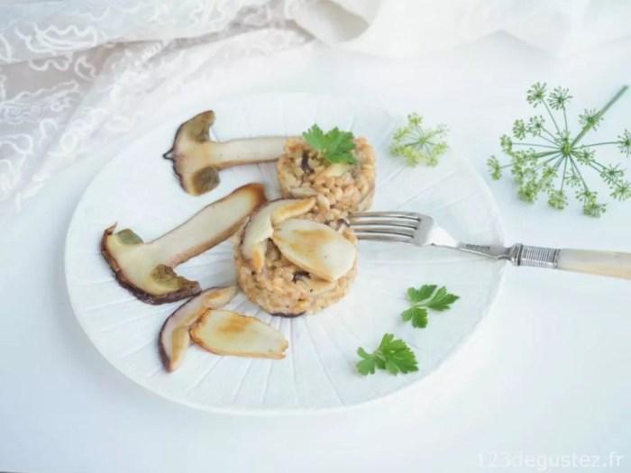 risotto de petit épeautre aux cèpes
