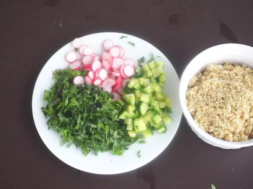 salade de quinoa aux herbes