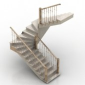 Staircase With Handrails