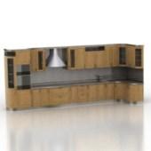Luxury Wooden Kitchen Cabinet 3d Model