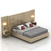 Deluxe Wooden Double Bed
