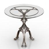 European Metal Coffee Table