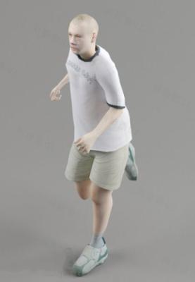 Running Kid Character 3d Model Free Download - No207 Zip