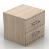 Simple Wood Bedside Cabinet