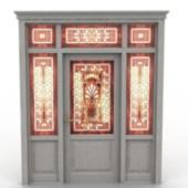 Vintage Door with Decoration Free 3dmax Model