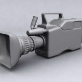 Professional Video Camera Free 3dmax Model