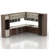 European Whole Kitchen Cabinet Free 3dmax Model