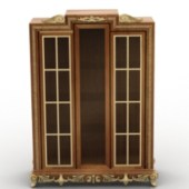 Chinese Wooden Wardrobe Free 3dmax Model