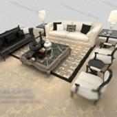 Black And White Sofa Free 3dmax Model