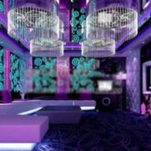 Purple Ktv Luxury Box