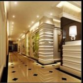 Modern Hotel Hallway