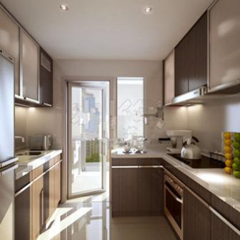 Realistic Kitchen Room