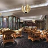 Cafe Interior Scene Free 3dmax Model
