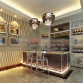 Wine Tasting Space Interior Scene Free 3dmax Model