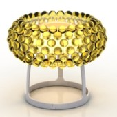 Golden Small Table Lamp