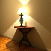 Yellow Glow Of Lamp