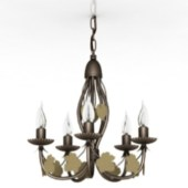 Flowers Style Chandelier Free 3dmax Model
