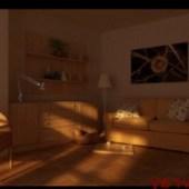 Sunset Living Room  Scene